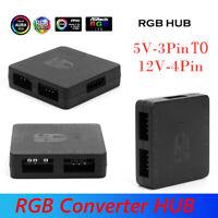 5V 3 Pin to 12V 4 Pin RGB Converter HUB 5V RGB to 12V RGB Motherboard Adapter