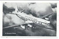 AIRCRAFT - B.E.A. VISCOUNT  Postcard