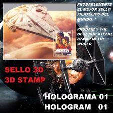 STAR WARS 3D STAMP SPAIN 2018 HAN SOLO SELLO FILATÉLICO 2018 GUERRA DE GALAXIAS