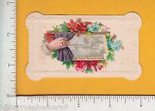 7853 Printer sample of hidden name calling card, c 1895 die-cut Victorian scrap