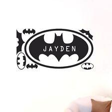 Custom Personalised Name Batman Home Wall Art Stickers Kid Boys Decor Mural DIY