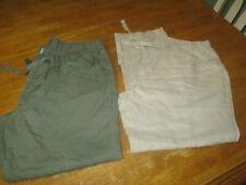 Columbia Women's  Pants, size L 27 L CHOOSE  beige OLIVE  Linen COTTON BLEND