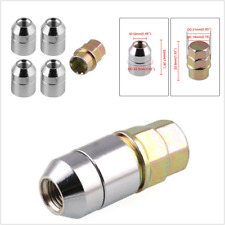 4+1 Steel Wheel Silver Locks Nut Chrome Locking Lug Nuts M12x1.5 High Quality
