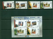 Latvia #633-37 (2006 Europa set and sheet) VFMNH CV $4.75