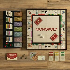 Winning Solutions Monopoly Grand Folding Edition Wood Framed Game Board NEW