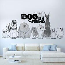 Dog Puppy Friend Pug Husky Bulldog Chow Chow Wall Sticker | Pet Shop Decor Decal
