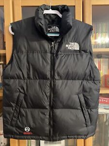 The North Face Large Summit Series Vest Puffer Jacket Black Goretex Down