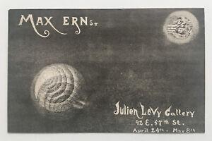 rare 1944 MAX ERNST exhibition card  JULIEN LEVY dali duchamp cornell surrealism