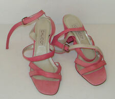 Calico shoes Pink size 10 M open toe Heels straps