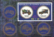 Guinea Ecuatorial Bloque 229 (edición completa) usado 1976 veteranso de coches
