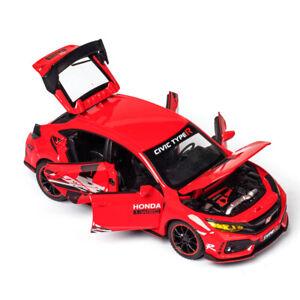 1:32 Honda 10th Civic Typer R FK8 Diecast Model Car Toy Collection Sound&Light