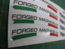 8 Marchesini FORGED MAGNESIUM Racing Wheel Rim Stickers