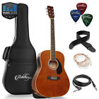 OPEN BOX - Full-Size Dreadnought Acoustic-Electric Guitar - Brown