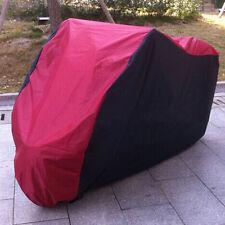 XL Rouge Noir Housse Bache Protection Couverture de moto velo