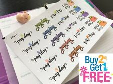 PP411 -- Colorful Pay Day Icons Life Planner Stickers for Erin Condren (20pcs)