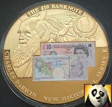 2010 LARGE 50mm £10 Ten Pound Charles Darwin Banknote Sticker Medal Coin