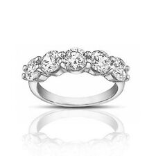 1.50 ct Ladies Round Cut Diamond Wedding Band Ring In 18 Karat White Gold