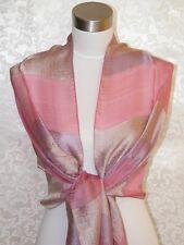 NEW 100% Silk Scarf Shawl Pink  G1005