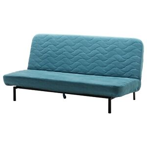 Ikea cover set for Nyhamn 3-Seater Sofa Bed in Borred Green/Blue  803.401.71
