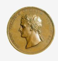 pcc2135_53) NAPOLEONE BONAPARTE 1805 MEDAGLIA INCORONAZIONE A RE D'ITALIA VLTRO