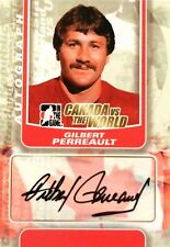 11-12 itg game canada vs world gilbert perreault team autograph auto
