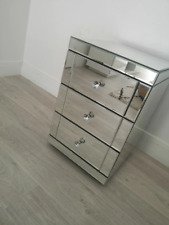 Mirrored Bedside Cabinet/Bedside Table