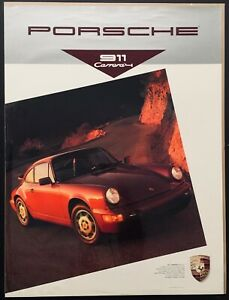 ORIGINAL PORSCHE 911 CARRERA 4 964 1989 WORKSHOP SHOWROOM GARAGE POSTER