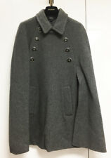 [A.P.C] Gray Cape Wool Coat Double Breast Sz Small / Pre-Owned Condition A+