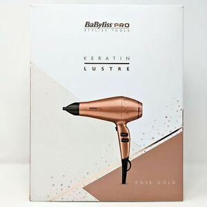 BaByliss PRO Keratin Lustre Hair Dryer Rose Gold - Ex Display - Damaged Open Box