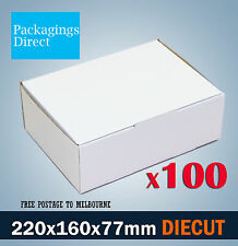 300 Diecut 150x100x75mm White Mailing Boxes Die Cut Cardboard Carton
