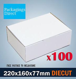 100x A5 Mailing Box 220 x 160 x 77mm Diecut Mailer BX1 B1 Shipping Carton
