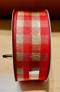 """Celebrate It Wired Jumbo Ribbon 2 1/2"""" × 75 ft You Choose Color Christmas 215E"""