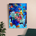 super mario bros fanart video game poster cover Game poster canvas poster