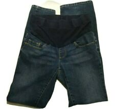 Maternity Hi Waist Jeans Small Full Panel Faded MOTHERHOOD Spandex Baby Stretch