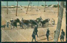 Militari Tripoli Italiana Africa Coloniale cartolina XF6857