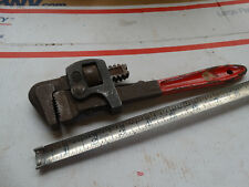 SQUARE JAW 10 INCH PIPE WRENCH  ( MFG - GOOD & KEN - SOMETHING - CAN'T MAKE IT O