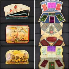 Vintage Retro Paper Sewing Needle Books Complete