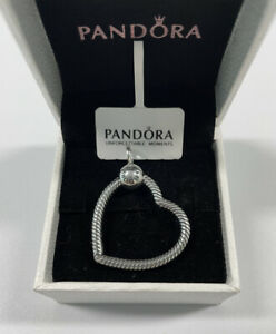 ALE S925 Genuine Silver Pandora Moments Heart Charm Pendant With Gift Box