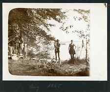 Baignade Vintage silver print.  Tirage argentique  8x11  Circa 1925  <div