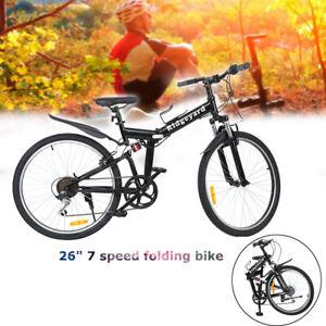 26/'/' 7-Gang Fahrrad Klapprad Mountainbike 26 Zoll MTB Jugend Kinderfahrrad Bike