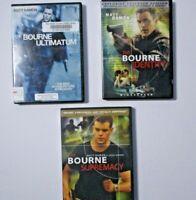 Jason Bourne Movie Pack: 3 Bourne DVD Movies See Description