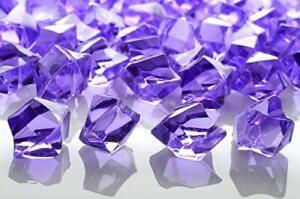 Quasimoon Lavender Colored Gemstones Acrylic Crystal Wedding Table Confetti V...
