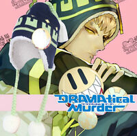 DRAMAtical Murder DMMD NOIZ Cosplay Knit Hat Plush Warm Cap Smile Button Badge
