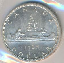 CANADA SILVER DOLLAR 1965 TYPE V - ICCS MS-64 HEAVY CAMEO