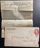 1903 Jackson OH USA Commercial Stationery Cover Standard Oil Company