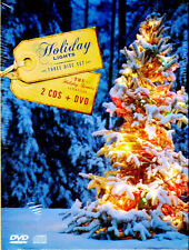 HOLIDAY LIGHTS: CHRISTMAS DISPLAYS & SCENES for your TV! DVD + 2CDs (3-Disc Set)