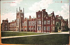 Irish Postcard Queen'S College University Belfast Northern Ireland 1906 Reliable