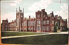 Irish Postcard QUEEN'S COLLEGE University Belfast Northern Ireland 1906 Reliable