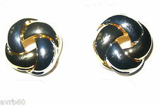 stud earrings two tone knotted metal design new