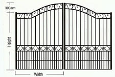 Driveway Gates EXTRA Strong Aluminium Black or Cream